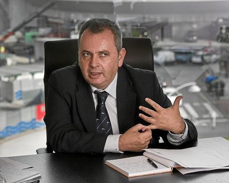 Alberto Surio en su despacho de la sede de EiTB en Bilbao. | Iñaki Andrés