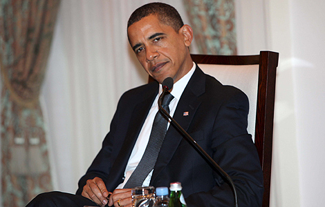 Barack Obama, durante la cumpra del APEC en Singapur.   Efe