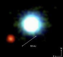 2M1207b, el primer planeta detectado por imagen directa. | ESO