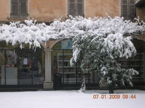 Imagen de la localidad nevada este año. Foto: comunedicoccaglio.it