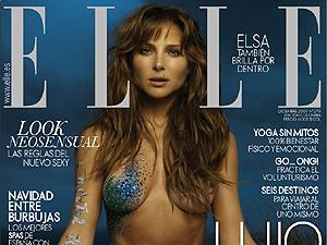 Elsa Pataki en la portada de 'Elle'.