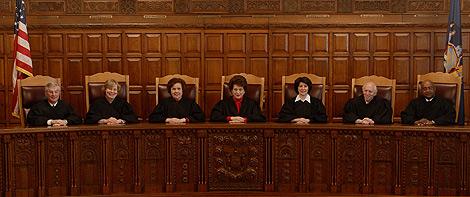 Los miembros del Tribunal de Apelación de Nueva York.