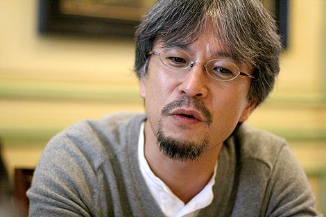 Eiji Aonuma, durante la entrevista