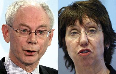 Las nuevas caras de Europa: Van Rompuy y Ashton. | Efe, Reuters