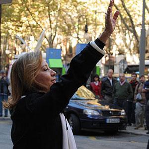 Maria Antònia Munar antes de declarar ante el juez. | Pep Vicens