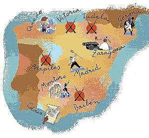Mapa de España |Ilustración:T.Benavides.