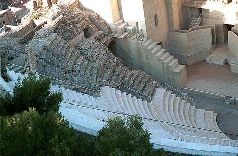 Zona rehabilitada en el Teatro Romano de Sagunto. (Foto: V.B.).