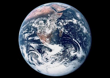 Imagen de la Tierra tomada por el Apollo.   NASA.