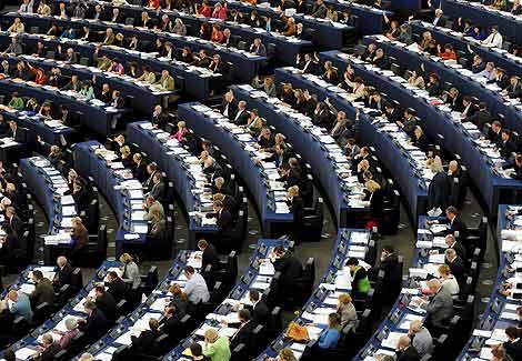 Vista de una sesión plenaria en el Parlamento Europeo. | Efe
