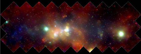 El Centro Galáctico observado en rayos X por el telescopio Chandra | NASA.