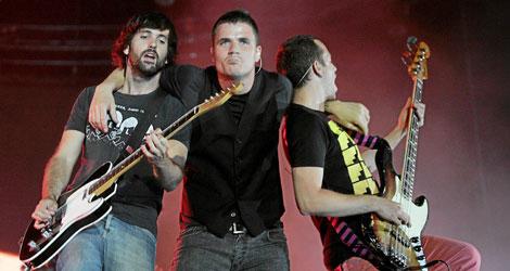 El grupo en uno de sus conciertos en el Palacio de los Deportes de Madrid   D. Sinova