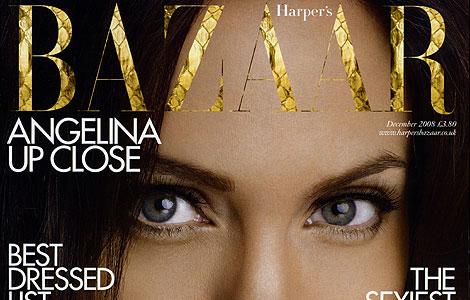 Angelina Jolie, protagonista de la portada de 'Harper's Bazaar' el pasado mes de diciembre.