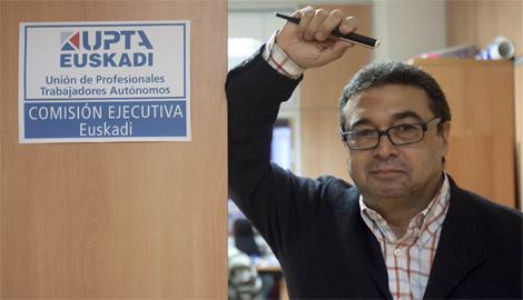 El secretario general de la Unión de Trabajadores Autónomos, Koldo Méndez Gallego. | Mitxi