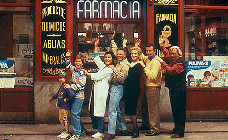 Los protagonistas de 'Farmacia de guardia', que volverán a reunirse en la 'tv movie'.