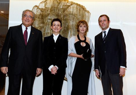 Luis Marcó, Carme Ruscalleda, Maria Reig y Sandro Rosell, de izda a dcha. | Antonio Moreno