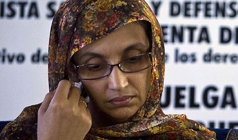 Aminatu Haidar, cada día más débil, a causa de la huelga de hambre. | Reuters