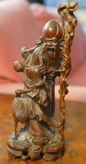 Escultura de un chino taoista.