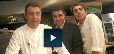 Joan, Josep y Jordi Roca, en su restaurante.   Christian Maury