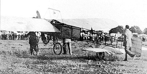 Julien Mamet antes del despegue del primer vuelo en Mallorca.