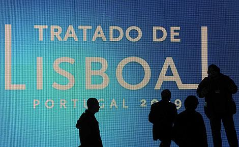 Una imagen de la celebración del Tratado, en Lisboa. | Afp.