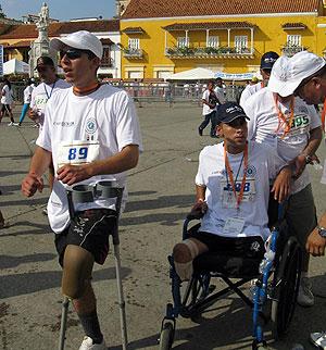 Soldados mutilados por minas en la carrera de Cartagena de Indias. | S.H.M.