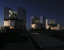 Tres telescopios VLT en Chile. | ESO