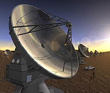 El radiotelescopio ALMA. | ESO