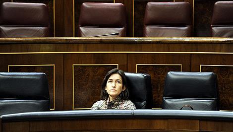 La ministra de Cultura, Ángeles González-Sinde, en el Congreso. | Bernardo Díaz