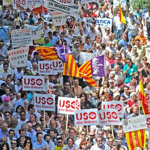 Imagen de la manifestación por la lengua del pasado mayo.