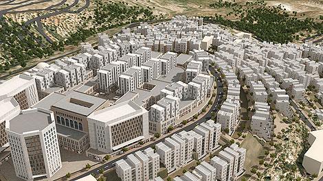 Maqueta de la futura ciudad palestina de Rawabi. | Sal Emergui