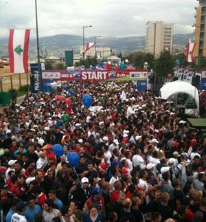 Vista aérea de la Maratón de Beirut. | Beirut Marathon