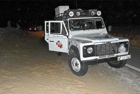 El vehículo en el que viajaban los voluntarios cuando fueron secuestrados.| ACN