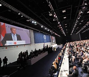 El pabellón Bella Center durante la inauguración de la cumbre. | AFP