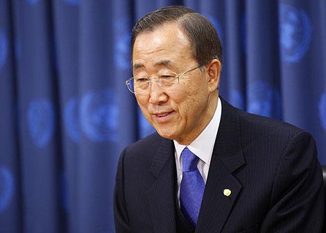 El secretario general de Naciones Unidas durante una conferencia | Reuters