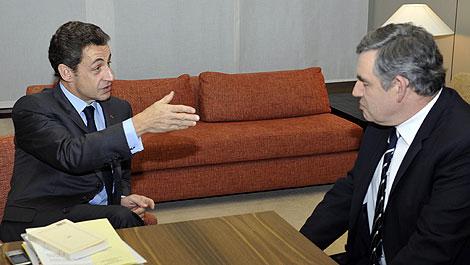 Sarkozy y Brown coinciden en querer avanzar lo 'más rápido posible'. | Afp