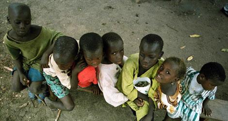Niños en la frontera de Senegal   Ap