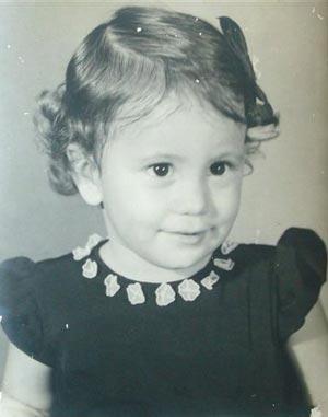 Wendy Guerra el día de su primer cumpleaños.