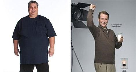 Antes y después del ganador de 'The Biggest Loser', Danny Cahill.