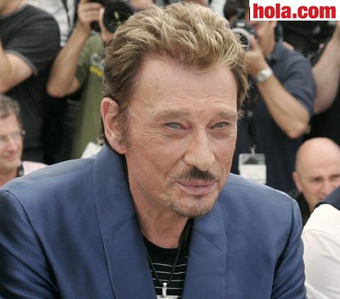El cantante y actor francés Johnny Hallyday.