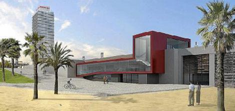 Recreación virtual del museo que se ubicará en la Vila Olímpica de Barcelona.
