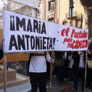 Una de las pancartas del pasado sábado en la manifestación. | H. S.