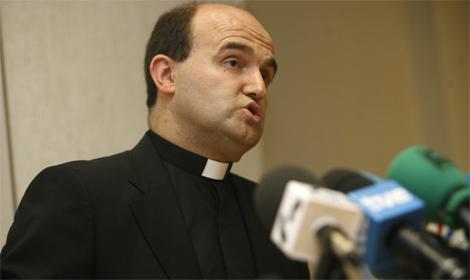 Monseñor Munilla, el día de su presentación en la diócesis de Guipúzcoa. | Justy García