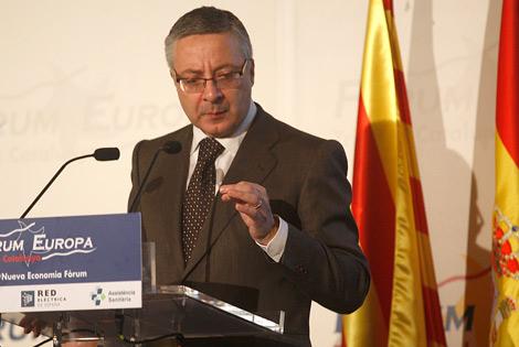 El ministro de Fomento, José Blanco, en su intervención. | Foto: Efe