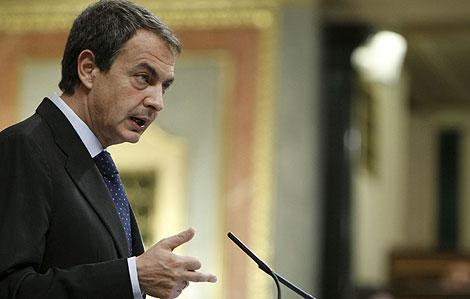 José Luis Rodríguez Zapatero, en el Congreso. | Efe