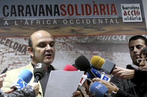 El portavoz de la ONG Barcelona Acció Solidaria, Xavier Altozano.   Efe