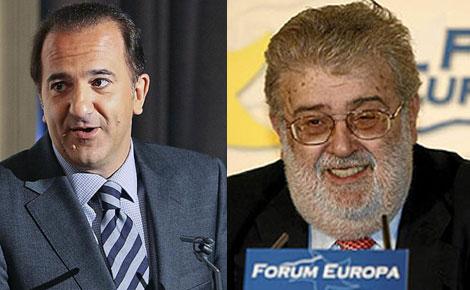 José Miguel Contreras, de La Sexta, y José Manuel Lara, de Planeta - Antena 3.