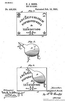 Primera página de la patente de la 'ouija' de Kennard.