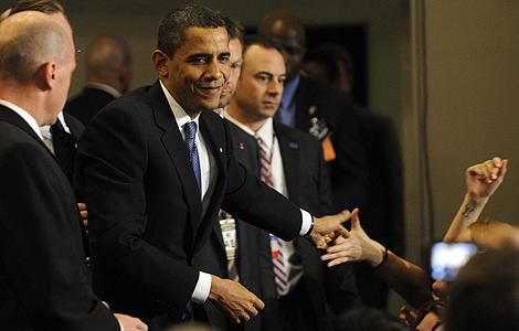 Barack Obama, tras el anuncio del acuerdo.   Reuters