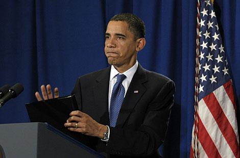 Obama, durante su comparecencia ante los medios. | AP
