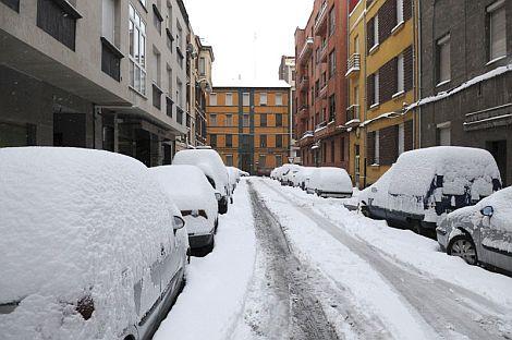 Fuerte nevada caída en León. | Efe